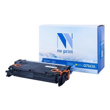 Картридж NVP совместимый NV-Q7562A для HP, желтый [NV-Q7562AY]