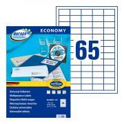 Самоклеящиеся этикетки Europe-100, 38 x 21,2 мм, 65 этикеток на листе А4, белые (18 листов) [ELA001-18]