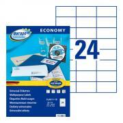 Самоклеящиеся этикетки Europe-100, 70 x 37,1 мм, 24 этикетки на листе А4, белые (18 листов) [ELA011-18]