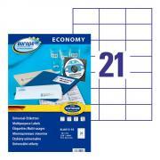 Самоклеящиеся этикетки Europe-100, 70 x 42,3 мм, 21 этикетка на листе А4, белые (18 листов) [ELA013-18]