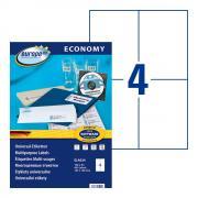Самоклеящиеся этикетки Europe-100, 105 x 148,5 мм, 4 этикетки на листе А4, белые (100 листов) [ELA024]