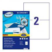 Самоклеящиеся этикетки Europe-100, 210 x 148,5 мм, 2 этикетки на листе А4, белые (100 листов) [ELA026]