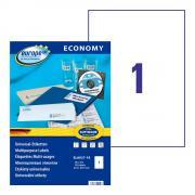 Самоклеящиеся этикетки Europe-100, 210 x 297 мм, 1 этикетка на листе А4, белые (18 листов) [ELA027-18]