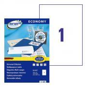 Самоклеящиеся этикетки Europe-100, 210 x 297 мм, 1 этикетка на листе А4, белые (100 листов) [ELA027]
