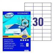 Самоклеящиеся этикетки Europe-100, 70 x 29,7 мм, 30 этикеток на листе А4, белые (100 листов) [ELA047]