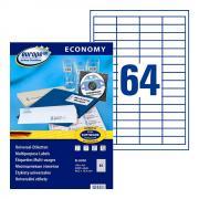 Самоклеящиеся этикетки Europe-100, 48,5 x 16,9 мм, 64 этикетки на листе А4, белые (100 листов) [ELA050]