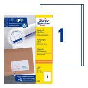 Самоклеящиеся этикетки Avery Zweckform, 200 x 297 мм, белые, 1 этикетка на листе А4 (100 листов) [3418]
