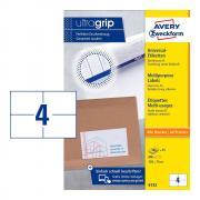 Самоклеящиеся этикетки Avery Zweckform, 105 x 74 мм, 4 этикетки на листе А5, белые (200 листов) [6133]