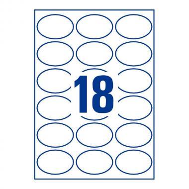 Глянцевые этикетки Avery Zweckform, овальные 63,5 x 42,3 мм (10 листов) [C6079-10]