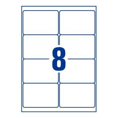 Глянцевые этикетки Avery Zweckform, 99,1 x 67,7 мм, белые (40 листов) [L7765-40]