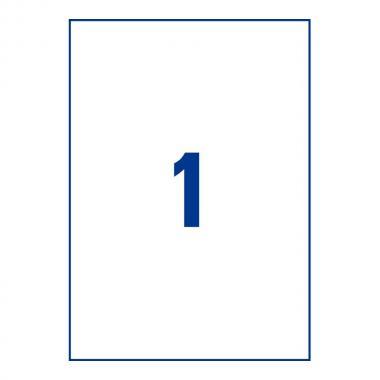 Глянцевые этикетки Avery Zweckform, 210 x 297 мм, белые (40 листов) [L7767-40]