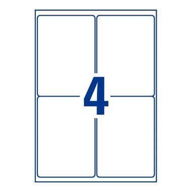 Глянцевые этикетки Avery Zweckform, 139 x 99,1 мм, белые (40 листов) [L7769-40]