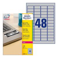 Серебристые этикетки Avery Zweckform, 45,7 x 21,2 мм (100 листов) [L6009-100]