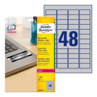 Серебристые этикетки Avery Zweckform, 45,7 x 21,2 мм (20 листов) [L6009-20]