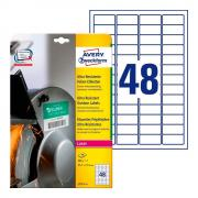 Суперпрочные пленочные этикетки Avery Zweckform, 45,7 x 21,2 мм, белые (10 листов) [L7911-10]
