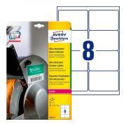 Суперпрочные пленочные этикетки Avery Zweckform, 99,1 x 67,7 мм, белые (10 листов) [L7914-10]