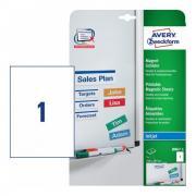 Магнитные таблички Avery Zweckform для струйных принтеров, 210 x 297 мм, 1 этикетка на листе A4 (5 листов) [J8867-5]