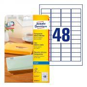 Прозрачные адресные этикетки Avery Zweckform, 45,7 x 21,2 мм (25 листов) [J4720-25]