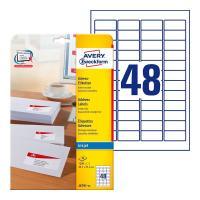 Почтовые этикетки Avery Zweckform, 45,7 x 21,2 мм, белые (25 листов) [J4791-25]