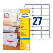Почтовые этикетки Avery Zweckform, 63,5 x 29,6 мм, белые (25 листов) [J4792-25]