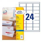 Почтовые этикетки Avery Zweckform, 63,5 x 33,9 мм, белые (25 листов) [J8159-25]