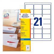 Почтовые этикетки Avery Zweckform, 63,5 x 38,1 мм, белые (25 листов) [J8160-25]