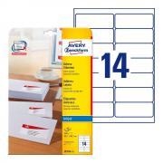 Почтовые этикетки Avery Zweckform, 99,1 x 38,1 мм, белые (25 листов) [J8163-25]