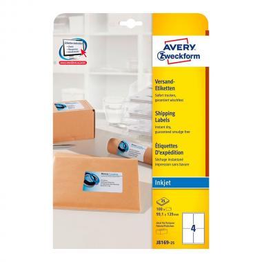 Непросвечивающиеся адресные этикетки Avery Zweckform, 99,1 x 139 мм (25 листов) [J8169-25]