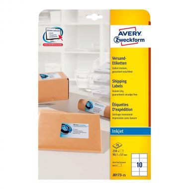 Непросвечивающиеся адресные этикетки Avery Zweckform, 99,1 x 57 мм (25 листов) [J8173-25]