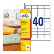 Прозрачные адресные этикетки Avery Zweckform, 45,7 x 25,4 мм (25 листов) [L4770-25]