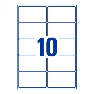 Непросвечивающиеся адресные этикетки Avery Zweckform, 99,1 x 57 мм (100 листов) [L7173-100]