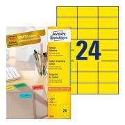 Самоклеящиеся этикетки Avery Zweckform, 70 x 37 мм, 24 этикетки на листе А4, желтые (100 листов) [3451]
