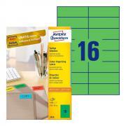 Самоклеящиеся этикетки Avery Zweckform, 105 x 37 мм, 16 этикеток на листе А4, зеленые (100 листов) [3454]