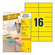 Самоклеящиеся этикетки Avery Zweckform, 105 x 37 мм, 16 этикеток на листе А4, желтые (100 листов) [3455]