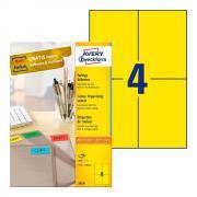 Самоклеящиеся этикетки Avery Zweckform, 105 x 148 мм, 4 этикетки на листе А4, желтые (100 листов) [3459]