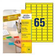 Удаляемые этикетки Avery Zweckform, 38,1 x 21,1 мм, 65 этикеток на листе А4, желтые (20 листов) [L4793-20]