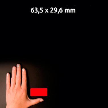 Неоновые красные этикетки Avery Zweckform, 63,5 x 29,6 мм (25 листов) [L6003-25]