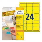Удаляемые этикетки Avery Zweckform, 63,5 x 33,9 мм, 24 этикетки на листе А4, желтые (20 листов) [L6035-20]