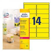 Неоновые желтые этикетки Avery Zweckform, 99,1 x 38,1 мм (25 листов) [L7263Y-25]