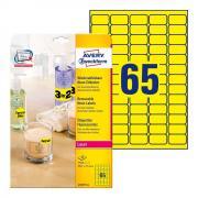 Неоновые желтые этикетки Avery Zweckform, 38,1 x 21,2 мм (25 листов) [L7651Y-25]