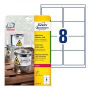 Всепогодные этикетки Avery Zweckform, 99,1 x 67,7 мм, белые (20 листов) [L4715-20]