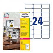 Всепогодные этикетки Avery Zweckform, 63,5 x 33,9 мм, белые (100 листов) [L4773-100]