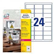 Всепогодные этикетки Avery Zweckform, 63,5 x 33,9 мм, белые (20 листов) [L4773-20]