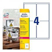 Всепогодные этикетки Avery Zweckform, 99,1 x 139 мм, белые (20 листов) [L4774-20]