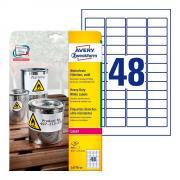 Всепогодные этикетки Avery Zweckform, 45,7 x 21,2 мм, белые (20 листов) [L4778-20]