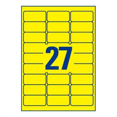 Всепогодные этикетки Avery Zweckform, 63,5 x 29,6 мм, желтые (20 листов) [L6105-20]