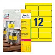 Всепогодные этикетки Avery Zweckform, 99,1 x 42,3 мм, желтые (20 листов) [L6107-20]