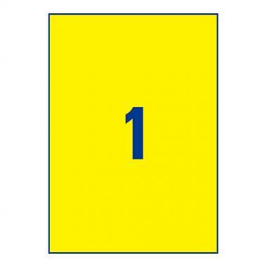 Всепогодные этикетки Avery Zweckform, 210 x 297 мм, желтые (20 листов) [L6111-20]