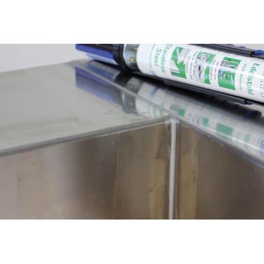 Клей-герметик Weicon Flex 310 M нержавеющая сталь, 310 мл [wcn13656310]